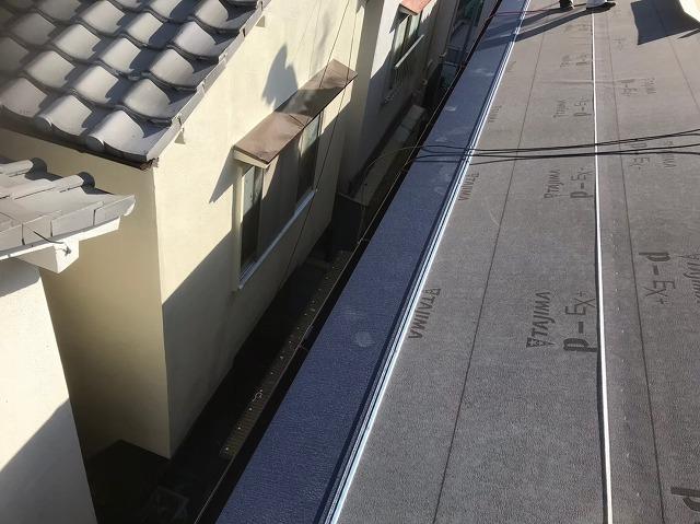 奈良市で屋根葺き替え工事でガルテクトへ