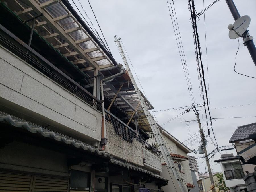 大阪市内の漆喰取り直し工事
