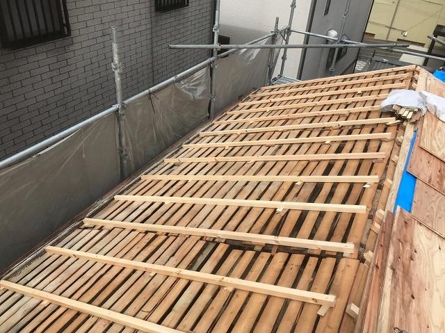 屋根下地調整