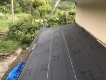 ルーフィング設置の下屋根