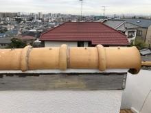丸瓦の差し替え補修