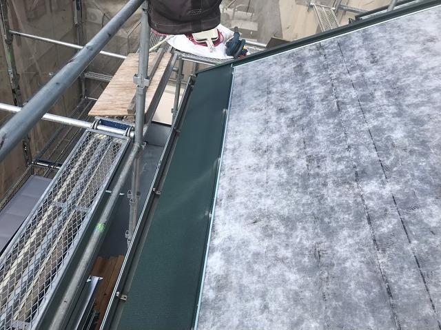 天理市のお住まいでカバー工法でガルテクトを設置