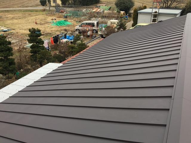 立平葺き屋根の完成