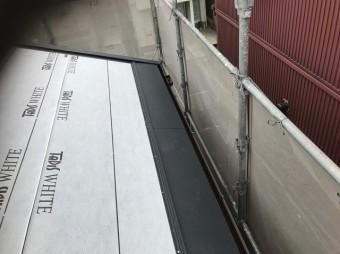 王寺町の瓦屋根の雨樋交換
