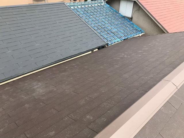 天理市の雨漏り修理で棟板金を設置