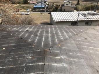 屋根材撤去