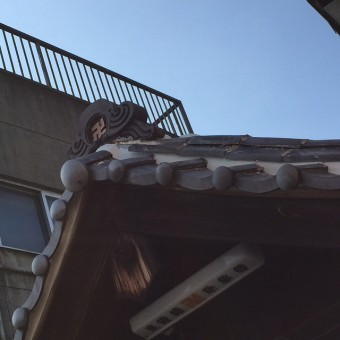お地蔵さま屋根漆喰塗り