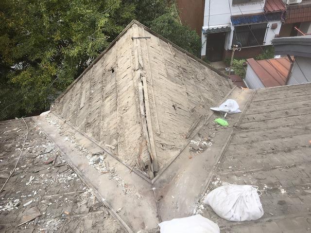 瓦撤去屋根