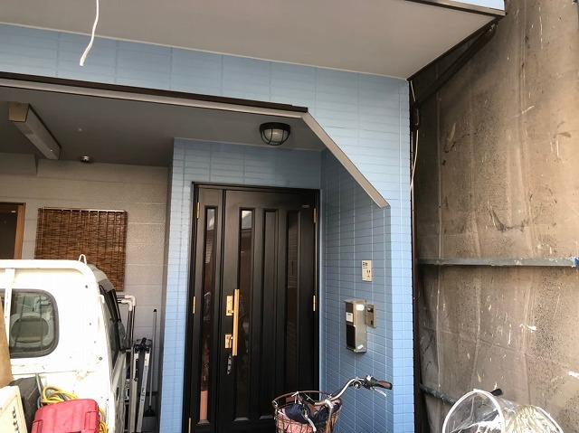 奈良市の住宅の足場解体
