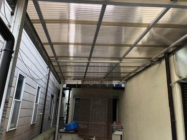 完成 カーポートの屋根