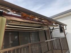 バルコニーの屋根補修