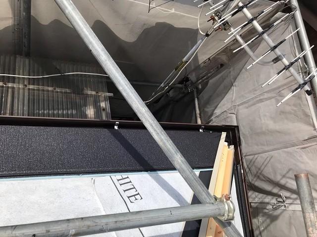 御所市の屋根のスーパーガルテクト設置