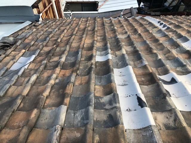 奈良市の経年劣化の瓦屋根