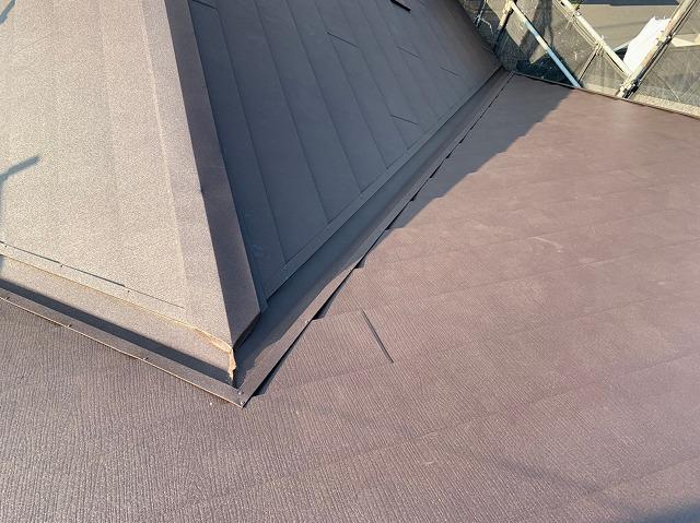 完成間近の屋根の様子