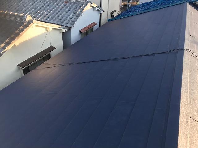 奈良市の長屋の屋根をガルテクトへリフォーム完成