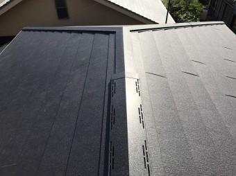 生駒市のカバー工法完成の屋根