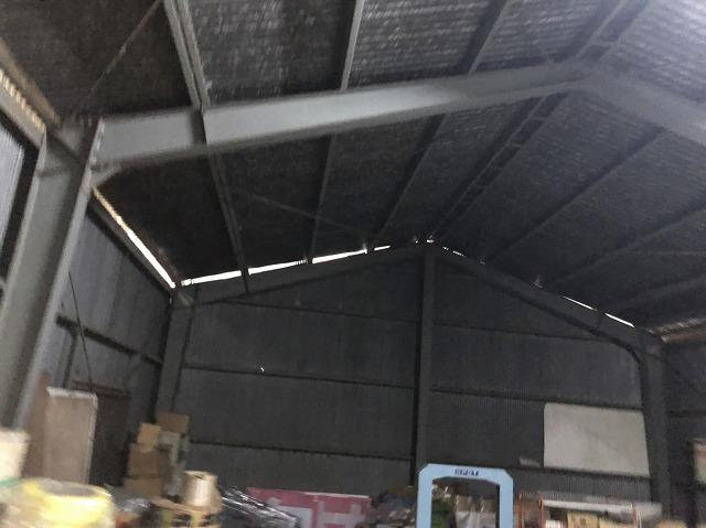 王寺町のスレート波板屋根の室内点検