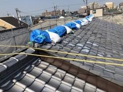 瓦屋根の劣化で葺き替え前