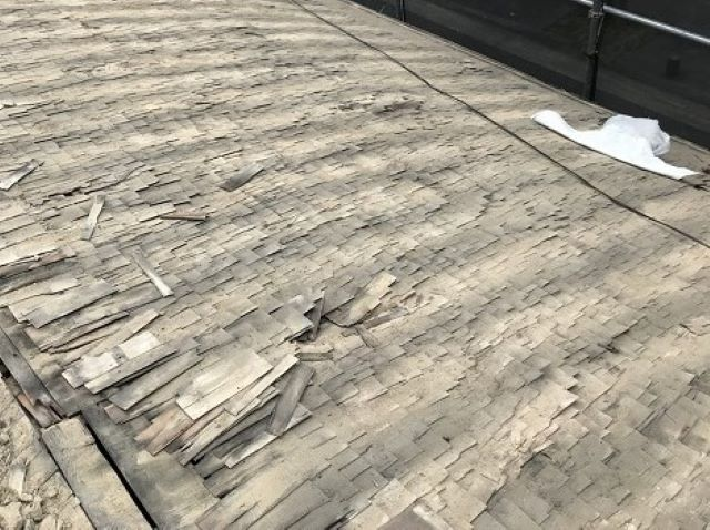 奈良市の瓦屋根の古い下地
