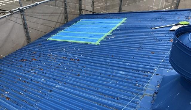 王寺町のスレート波板雨漏り補修