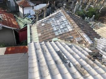 撤去前屋根