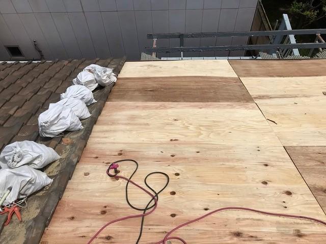 奈良市の野地板メンテナンス