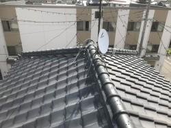 現場調査の瓦屋根