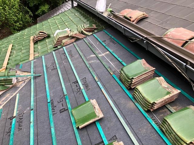 浅桟木の設置で乾式工法