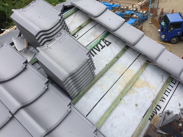 奈良市の瓦屋根の葺き替え工事