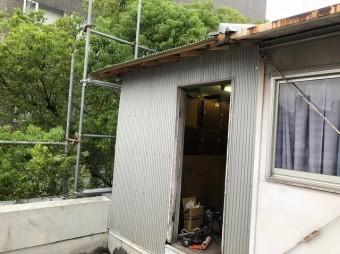 屋根小屋の外壁葺き替え