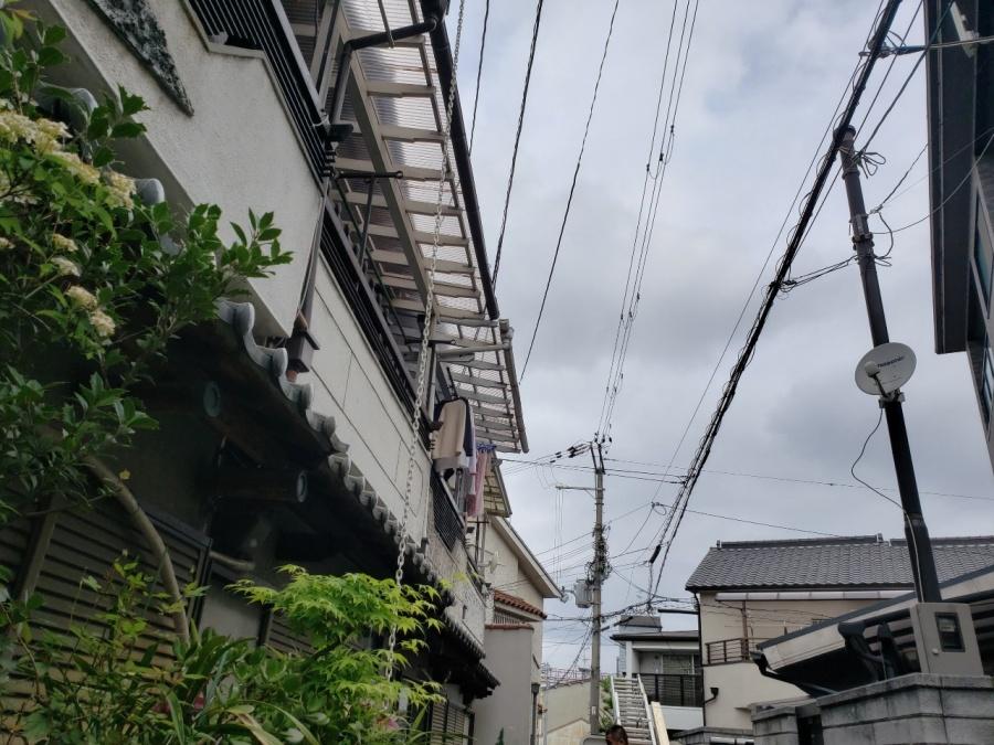 大阪市内の瓦屋根を現調