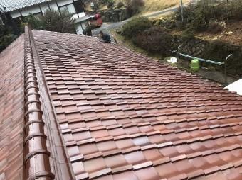 葺き直し完成後の屋根