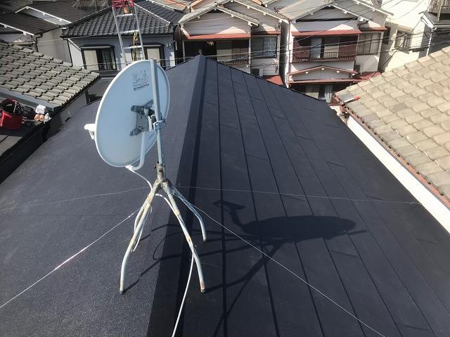 香芝市でスーパーガルテクト屋根が完成