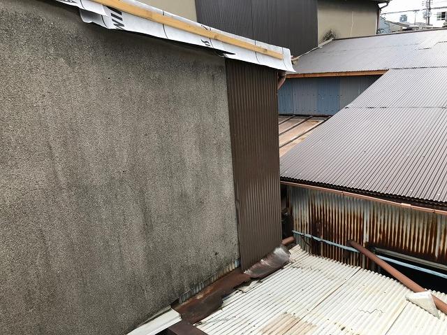 奈良市で2階の外壁を補修した様子