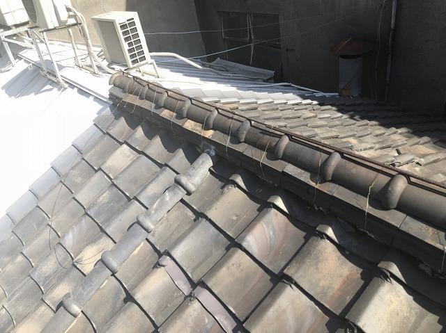 屋根の工事を始める前の様子
