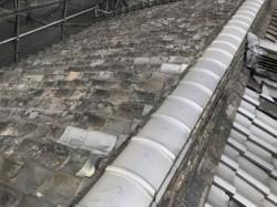 奈良市の瓦屋根施工前