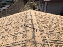 トタンを剥がした屋根