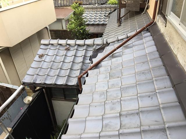 新和瓦葺き替え後の下屋根