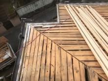 古いバラ板の経年劣化と垂木