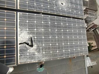 太陽光パネル破損