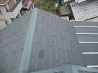 破損したスレート屋根の様子