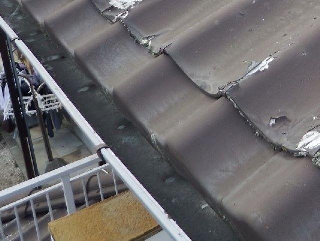 生駒市の劣化した雨樋