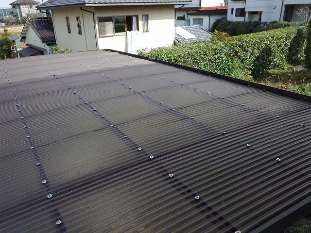 工事前の物干し場の波板屋根