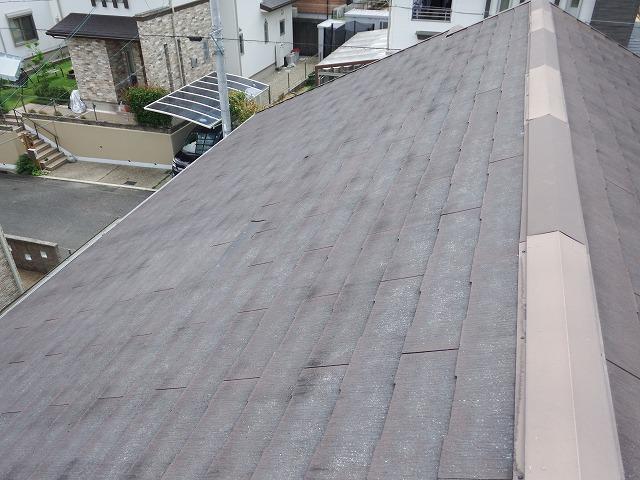補修前のスレート屋根