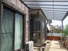 ポリカ製屋根のテラス
