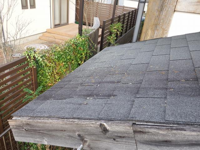 生駒市で台風被害にあったお宅の下屋ね