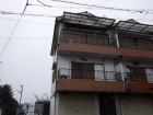 桜井市の破損したベランダの様子