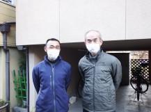 奈良市で波板交換工事のお客様との2ショット