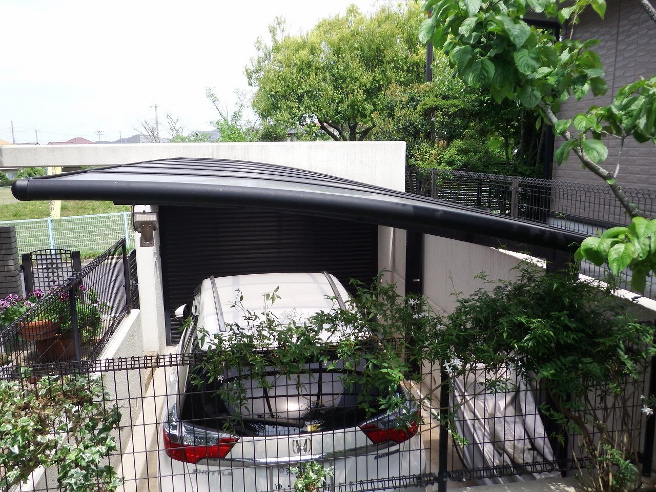生駒市の廃番になったカーポート