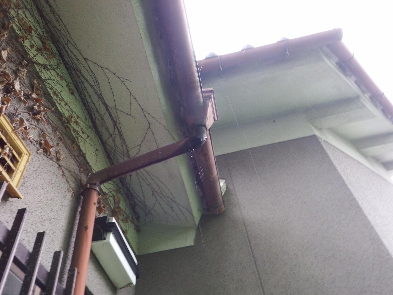 橿原市の雨樋工事、現調